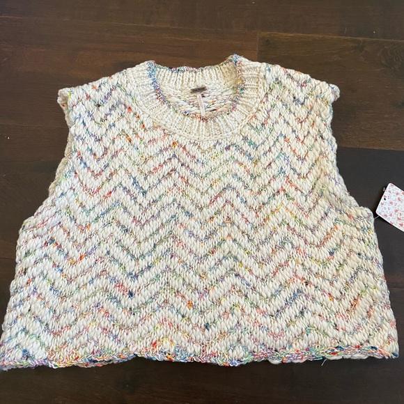Free People vanilla multi-color sweater tank